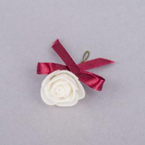 Cocarde trandafir alb fundita grena