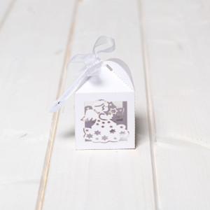 Marturii nunta cutiute albe ingeras