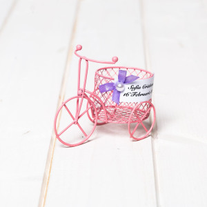 Marturii botez fetite biciclete sarma roz