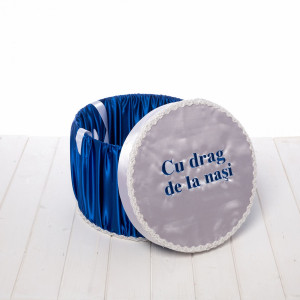 Cutie trusou albastra Cu drag de la nasi