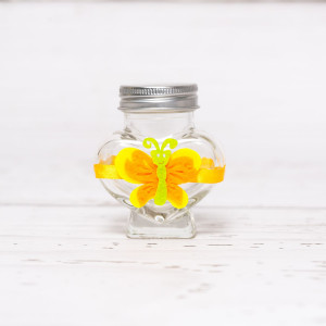 Sticluta de mir inima cu fluture colorat