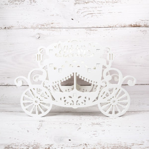 Decoratiune nunta caleasca alba