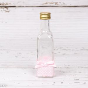 Sticluta de mir fetite cu decor roz si buline