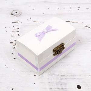 Cutiuta mot botez decor lila