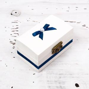 Cutiuta mot botez decor bleumarin
