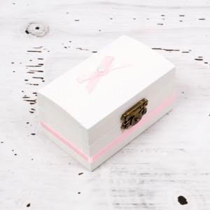 Cutiuta mot botez decor roz
