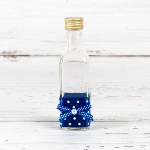 Sticluta de mir cu decor albastru si buline albe
