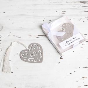 Marturii de nunta semn de carte inima alba