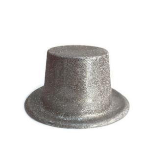Palarie petrecere cu sclipici argintie